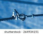 steel wire rope full of greasy... | Shutterstock . vector #264934151