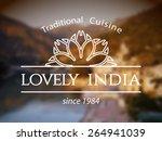 lovely india logo template.... | Shutterstock .eps vector #264941039
