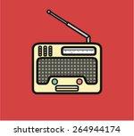 retro aged radio icon | Shutterstock .eps vector #264944174
