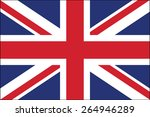 united kingdom flag vector | Shutterstock .eps vector #264946289