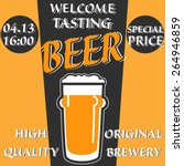 vector design welcome of beer... | Shutterstock .eps vector #264946859