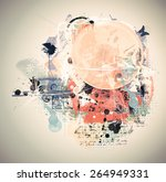 highly detailed grunge abstract ... | Shutterstock . vector #264949331