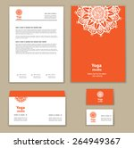 template corporate style with a ... | Shutterstock .eps vector #264949367