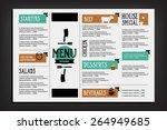 restaurant cafe menu  template... | Shutterstock .eps vector #264949685