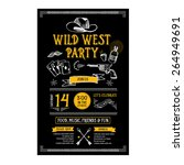 invitation wild west party... | Shutterstock .eps vector #264949691
