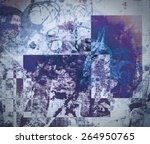 highly detailed grunge abstract ... | Shutterstock . vector #264950765