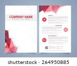 front and back page... | Shutterstock .eps vector #264950885