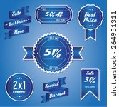 sale label price percentage... | Shutterstock .eps vector #264951311