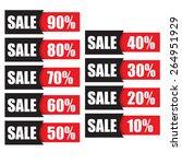 sale best offer badge  sticker  ... | Shutterstock .eps vector #264951929