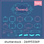 simple and graceful frame... | Shutterstock .eps vector #264953369