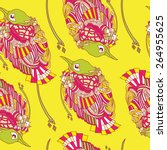 birds seamless pattern.... | Shutterstock .eps vector #264955625