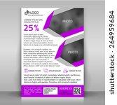 business flyer. design with... | Shutterstock .eps vector #264959684