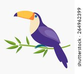 illustration of a cute toucan... | Shutterstock .eps vector #264962399