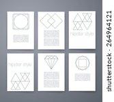 set hipster geometric... | Shutterstock .eps vector #264964121