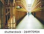 corridor in an abandoned... | Shutterstock . vector #264970904