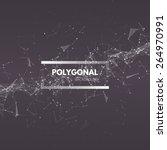 wireframe mesh polygonal... | Shutterstock .eps vector #264970991