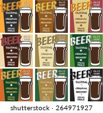 vector set design beer tasting... | Shutterstock .eps vector #264971927