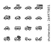 transportation and vehicle icon ... | Shutterstock .eps vector #264975851