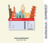 travel and flights background... | Shutterstock .eps vector #264980537
