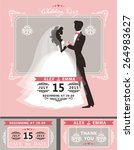 wedding invitation set.flat... | Shutterstock .eps vector #264983627
