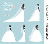 wedding fashion.bride in... | Shutterstock .eps vector #264984971
