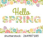 Hello Spring Flowers Text...