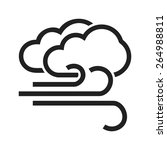 windy and cloudy vector image... | Shutterstock .eps vector #264988811