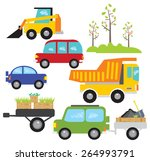 set of vector construction... | Shutterstock .eps vector #264993791