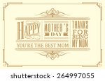 happy mother's day typography... | Shutterstock .eps vector #264997055