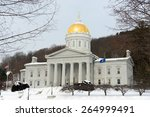 Vermont State House In Winter ...
