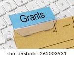 a brown file folder labeled... | Shutterstock . vector #265003931