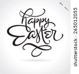 happy easter original custom... | Shutterstock .eps vector #265012055