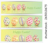 set of banners with colorful... | Shutterstock .eps vector #265013675