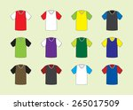 set of twelve football soccer... | Shutterstock .eps vector #265017509