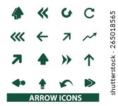 arrow  direction icons  signs ...