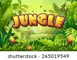 illustration cartoon jungle... | Shutterstock . vector #265019549