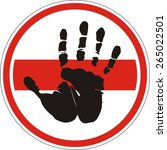 sign that prohibits the movement | Shutterstock .eps vector #265022501