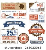coupon collection | Shutterstock .eps vector #265023065