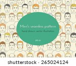 seamless pattern with the image ... | Shutterstock .eps vector #265024124