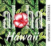 aloha hawaii tropical...   Shutterstock .eps vector #265026161