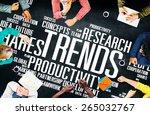 global shares trends ideas... | Shutterstock . vector #265032767