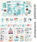 travel infographic set with... | Shutterstock .eps vector #265033259