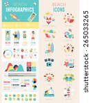beach infographic set with... | Shutterstock .eps vector #265033265
