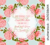 wedding invitation card with... | Shutterstock .eps vector #265038644