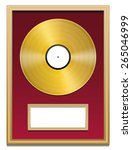 Gold Record With Blank Plaque...