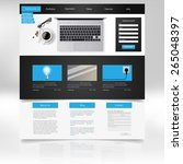 website template and business... | Shutterstock .eps vector #265048397