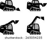 detailed illustration of skid... | Shutterstock .eps vector #265054235