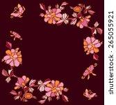 vector ornamental decorative... | Shutterstock .eps vector #265055921