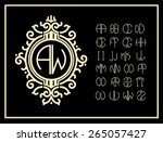 set  template letters to create ... | Shutterstock .eps vector #265057427