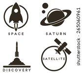 space emblems | Shutterstock .eps vector #265060961